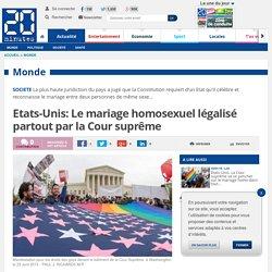 Etats-Unis: Le mariage homosexuel légalisé partout par la Cour suprême