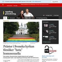 """Präster i Svenska kyrkan försöker """"bota"""" homosexuella - Uppdrag Granskning"""