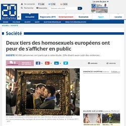 Deux tiers des homosexuels européens ont peur de s'afficher en public