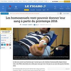 Les homosexuels vont pouvoir donner leur sang à partir du printemps 2016