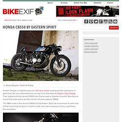 The real deal: A stealthy CB550 cafe racer from Hookie Co.