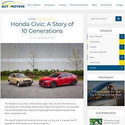 Honda Civic: A Story of 10 Generations - Automoteve Blog
