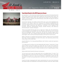Al Lamb's Dallas Honda: Team Honda Ready for the 2015 Supercross Season