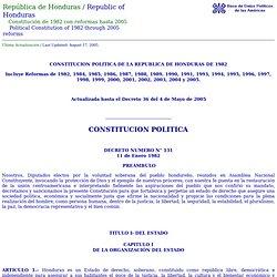 Honduras: Constitución de 1982