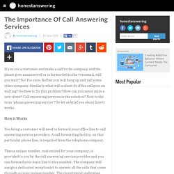 The Importance Of Call Answering Services