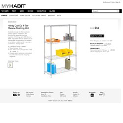 Honey Can Do 4-Tier Chrome Shelving Unit at MYHABIT