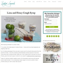 Lime and Honey Cough Syrup : Vintage Amanda