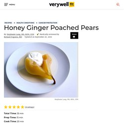 Honey Ginger Poached Pear Recipe