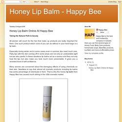 Honey Lip Balm - Happy Bee: Honey Lip Balm Online At Happy Bee
