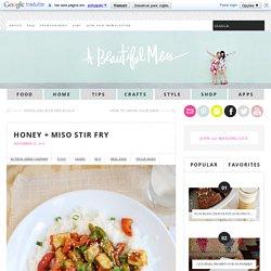 Honey + Miso Stir Fry
