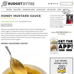 Honey Mustard Sauce - Creamy, Sweet, and Tangy!