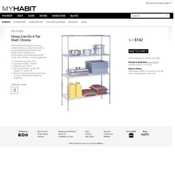 Honey-Can-Do 4-Tier Shelf, Chrome at MYHABIT