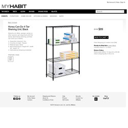 Honey Can-Do 4-Tier Shelving Unit, Black at MYHABIT