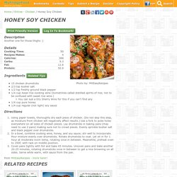 Honey Soy Chicken