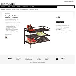 Honey-Can-Do 3-Tier Shoe Rack, Espresso at MYHABIT