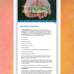 Hands-On Granola « Miss Kathryn's
