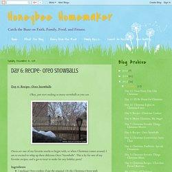Honeybee Homemaker: Day 6: Recipe- Oreo Snowballs