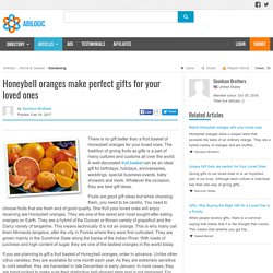 Honeybell oranges make perfect gifts for your loved ones