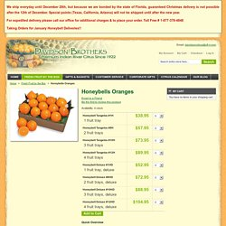 Honeybells Oranges - Fresh Fruit by the Box