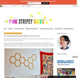 DIY Honeycomb Hexagon Popsicle Stick Wall Art