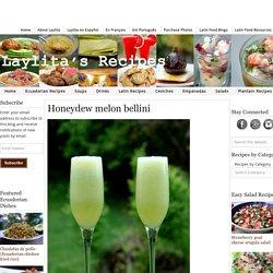 Honeydew melon bellini recipe