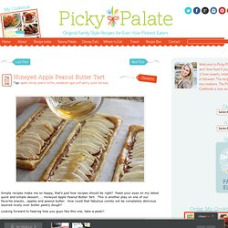 Honeyed Apple Peanut Butter Tart