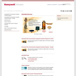 AlarmNet Services - Honeywell Security & Communications