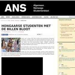 Hongaarse studenten met de billen bloot