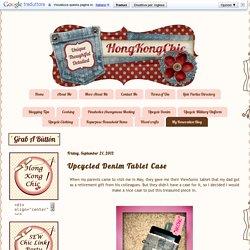 HongKongChic: Upcycled Denim Tablet Case