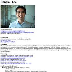 Honglak Lee's Homepage