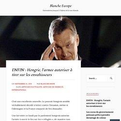 Hongrie, l'armée autoriser à tirer sur les envahisseurs