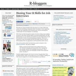 Honing Your R Skills for Job Interviews