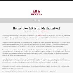 Honnest tea fait le pari de l'honnêteté