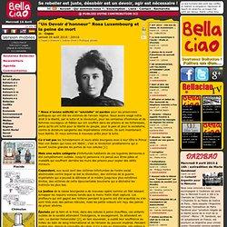 """Un Devoir d'honneur"""" Rosa Luxembourg et la peine de mort - Copas"""
