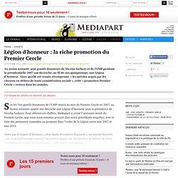 Légion d'honneur: la riche promotion du Premier Cercle