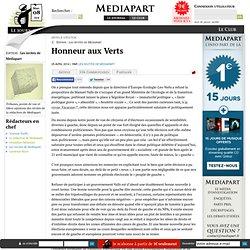 Honneur aux Verts