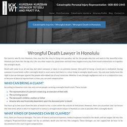 Honolulu Wrongful Death Lawyer