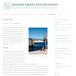 The Honor Frost Foundation