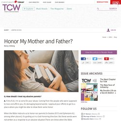 Honor My Mother and Father?