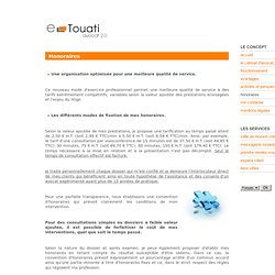 Honoraires - e-cabinet, avocat en ligne, consultation juridique en ligne