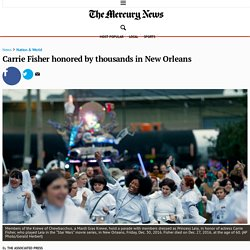 Carrie Fisher honored by thousands in New Orleans