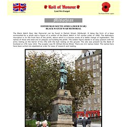 Roll of Honour - Midlothian - Edingburg, Black Watch (Boer War)
