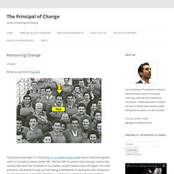 Honouring Change