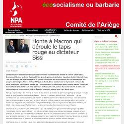 13 déc. 2020 Honte à Macron qui déroule le tapis rouge au dictateur Sissi