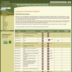 Mt Hood National Forest - Data Library