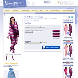Hoodie-Footie™ for Women - Sweet Stripe