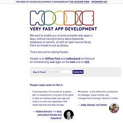 ie - Very fast web app development
