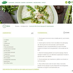Gerstrisotto met groene asperges en hazelnootpesto