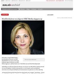 Hoofdred & uitgever NRC Media stappen op 26-04-2010