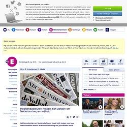Hoofdredacteuren maken zich zorgen om Nederlandse persvrijheid